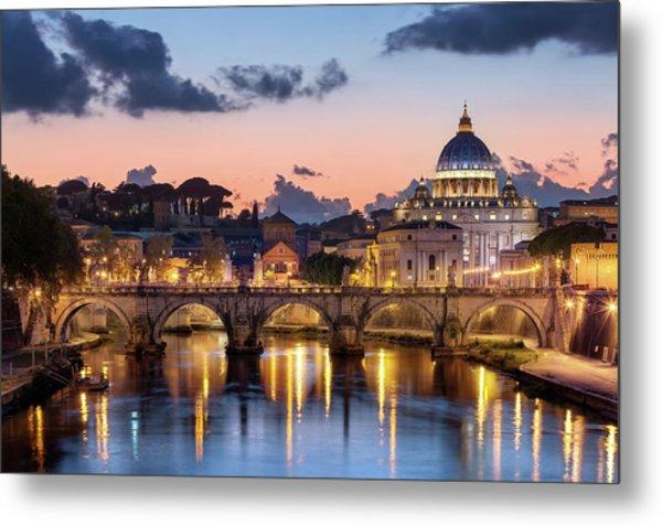 Afterglow, St Peters Basilica, Rome Metal Print by Joe Daniel Price