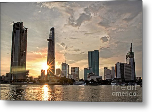 Afternoon City Metal Print