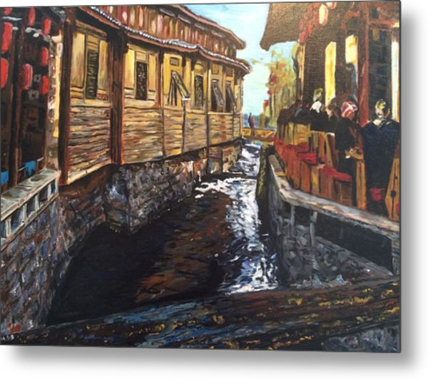 Afternoon Delight In Old Town Of Lijiang Metal Print