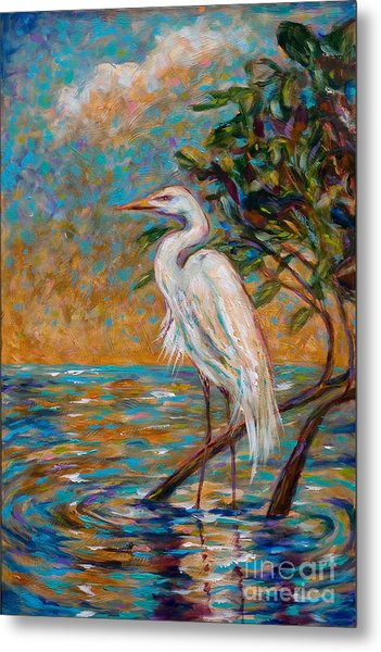 Afternoon Egret Metal Print