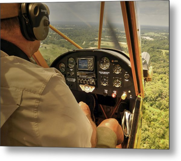 Afternoon In A J3 Cub Metal Print