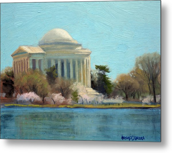 Afternoon Light Jefferson Memorial Metal Print