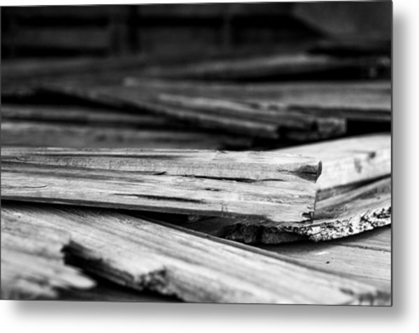Against The Grain Metal Print