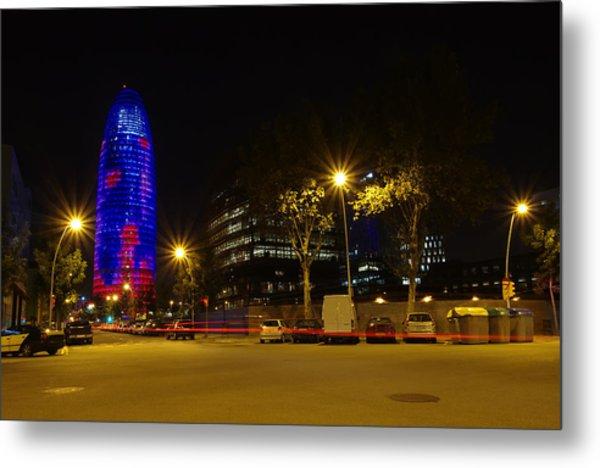 Agbar Tower At Night Metal Print by Ioan Panaite