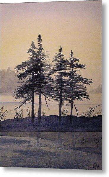 Aguasabon Trees Metal Print
