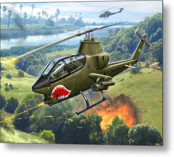 Ah-1g Huey Cobra   The Cobras Venom Metal Print