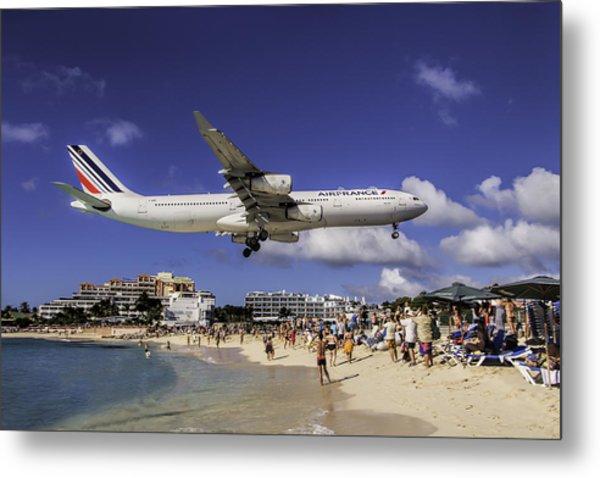Air France St. Maarten Landing Metal Print
