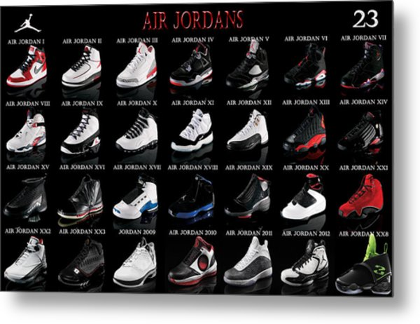 Air Jordan Shoe Gallery Metal Print