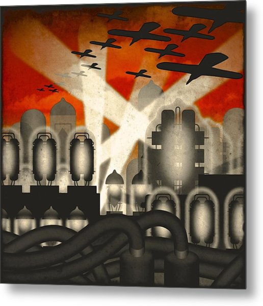 Air Raid Metal Print