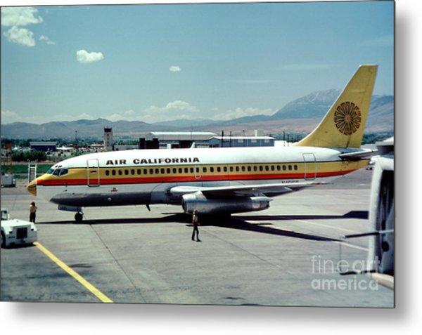 Aircal Boeing 737 Metal Print