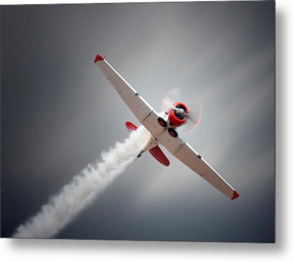 Aircraft In Flight Metal Print
