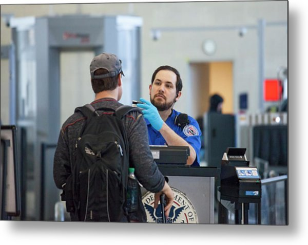 Airport Security Check Metal Print