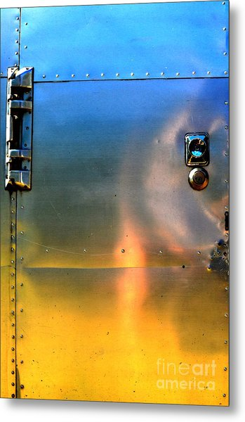 Airstream Sunset Metal Print