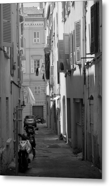 Ajaccio Back Alley Metal Print
