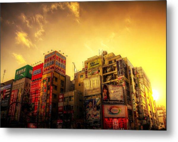 Akihabara Sunset Metal Print by SEOS Photography