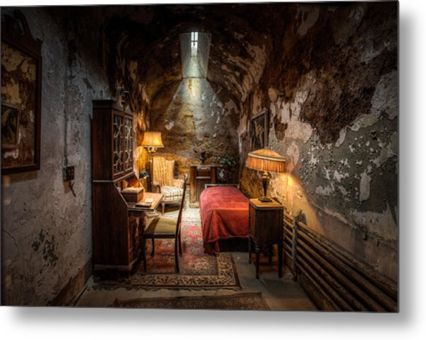 Metal Print featuring the photograph Al Capone's Cell - Historical Ruins At Eastern State Penitentiary - Gary Heller by Gary Heller