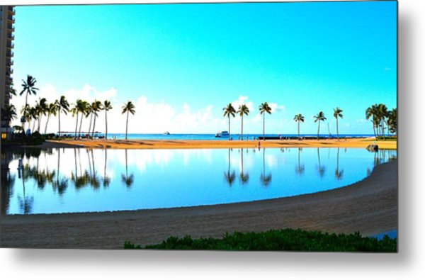 Peaceful Reflections Metal Print