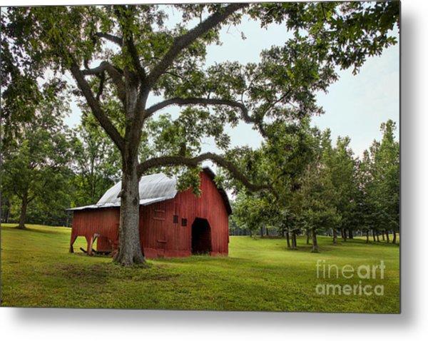 Alabama Red Barn  Metal Print