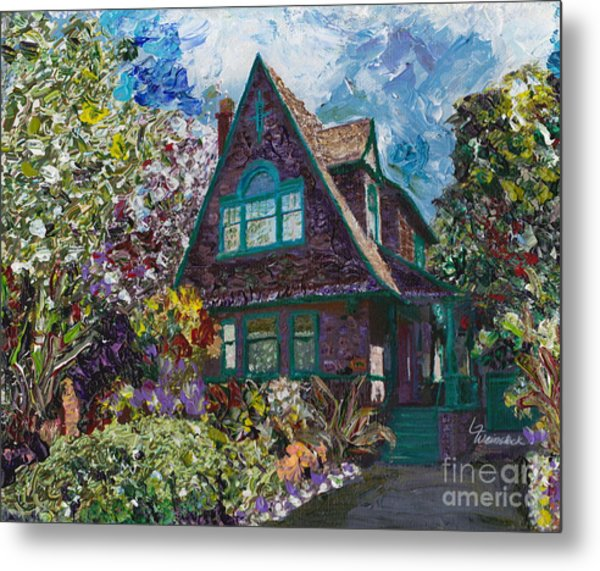 Alameda 1907 Traditional Pitched Gable - Colonial Revival Metal Print