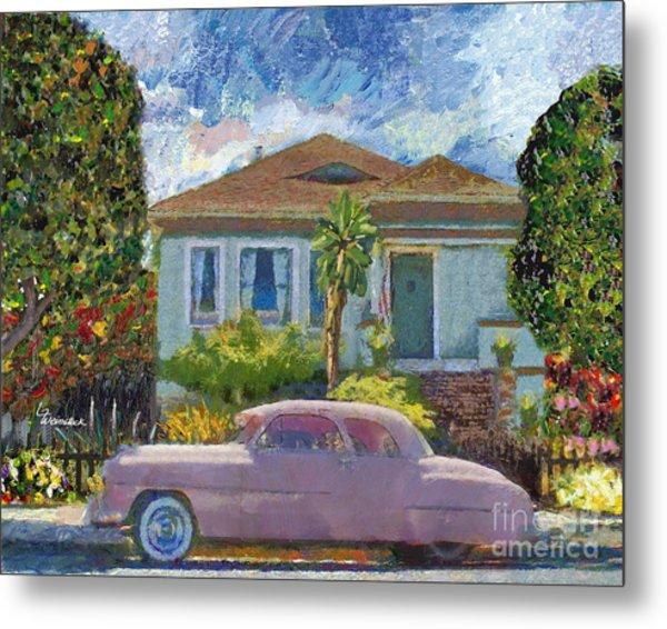 Alameda 1908 House 1950 Pink Dodge Metal Print