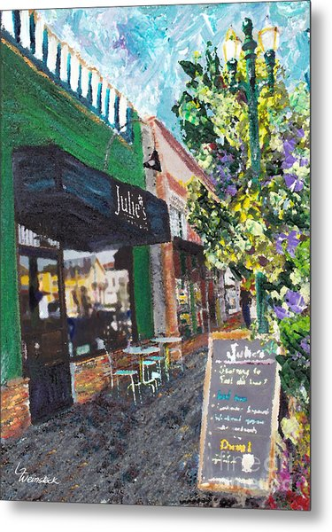Alameda Julie's Coffee N Tea Garden Metal Print