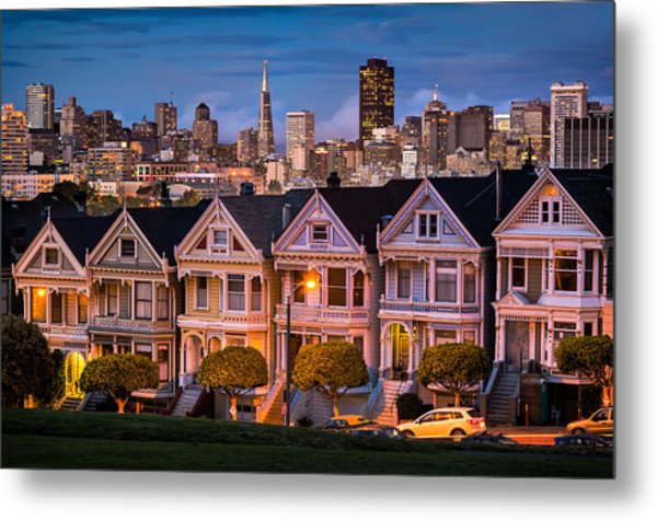 Alamo Square - Painted Ladies Metal Print