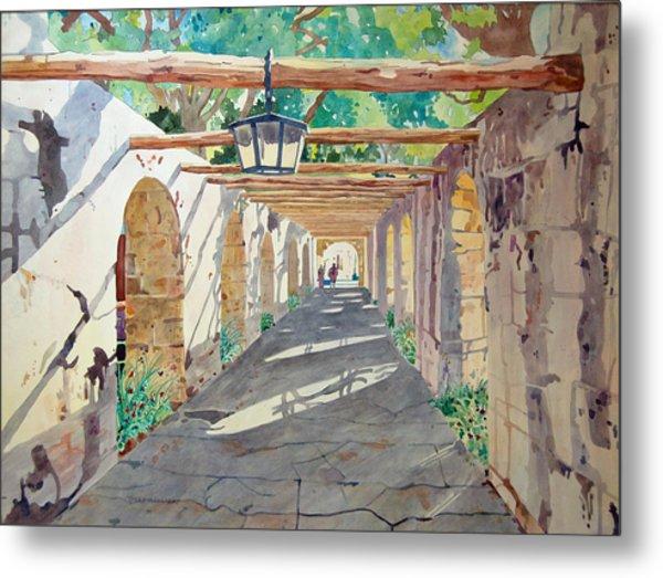 Alamo Walkway Metal Print