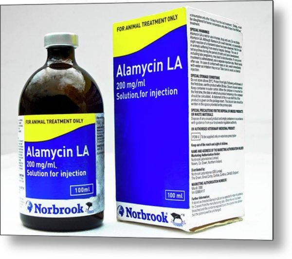 Alamycin Antibiotic Solution Metal Print by Ian Gowland