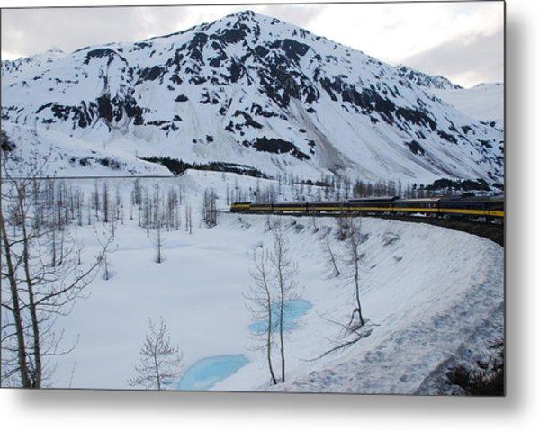 Alaska Train To Denali Metal Print