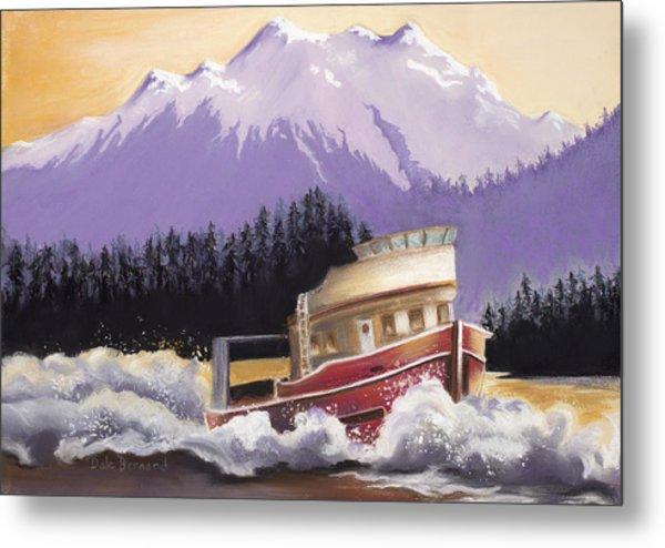 Alaskan Boat Adventure Metal Print