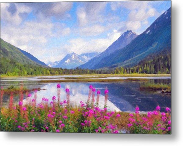 Alaskan Horizons Oil Painting Metal Print