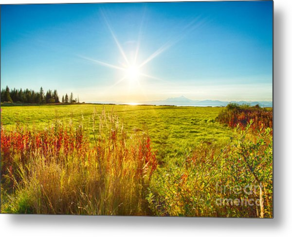 Alaskan Sunburst Metal Print by Paul Karanik