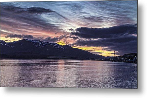 Alaskan Sunset On The Tongass Narrows Metal Print
