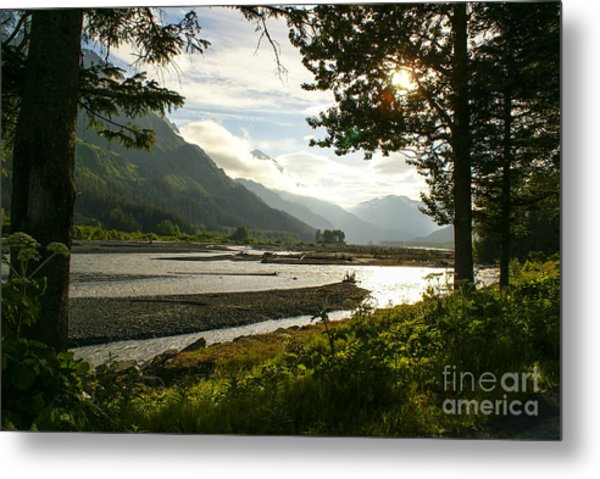 Alaskan Valley Metal Print