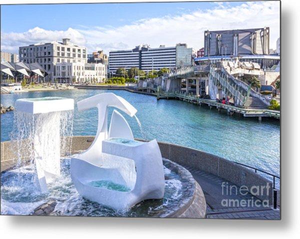 Albatross Fountain Wellington New Zealand Metal Print