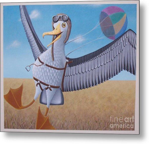 Albatross Landing Metal Print