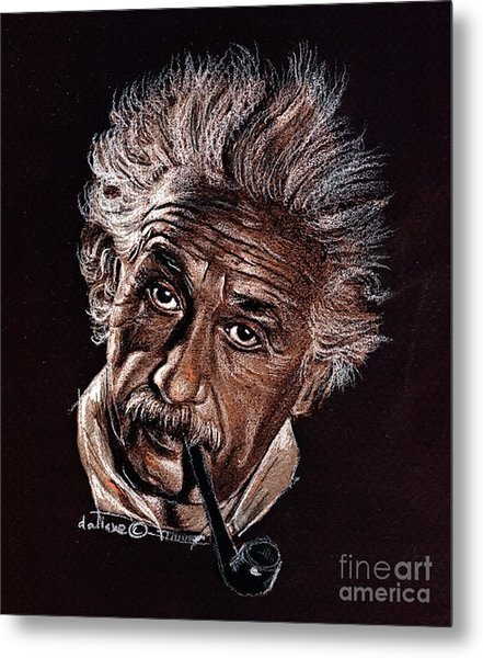 Albert Einstein Portrait Metal Print