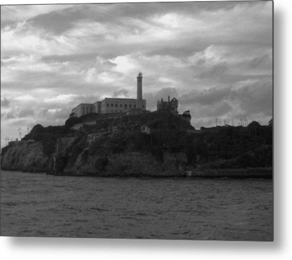 Alcatraz Island B N W Metal Print