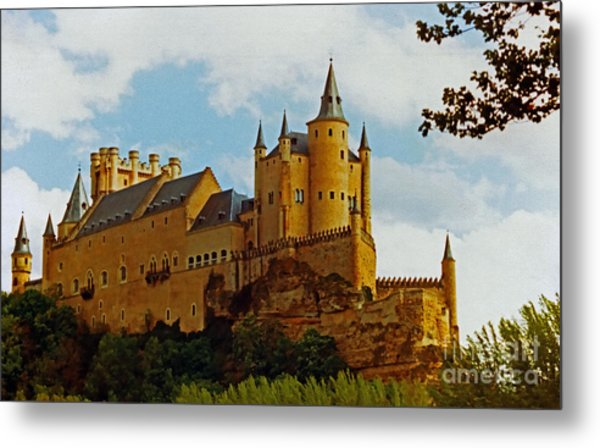 Alcazar Castle In Segovia Spain Metal Print