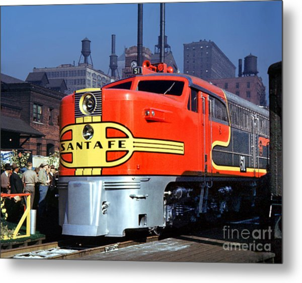 Alco Pa-1 51 Santa Fe Chief Diesel Locomotive Chicago 1946 Metal Print