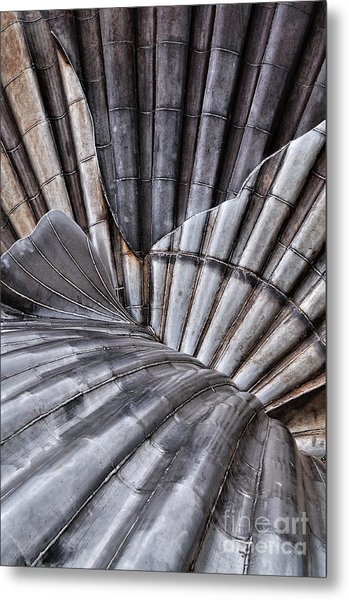 Aldeburgh Shell Abstract Metal Print