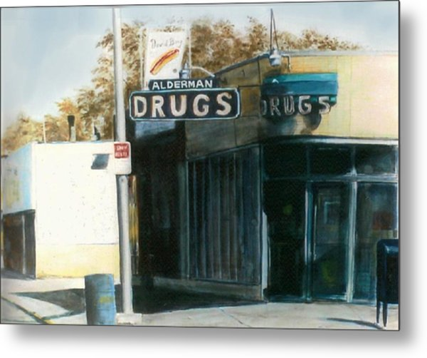Alderman Drugs Metal Print
