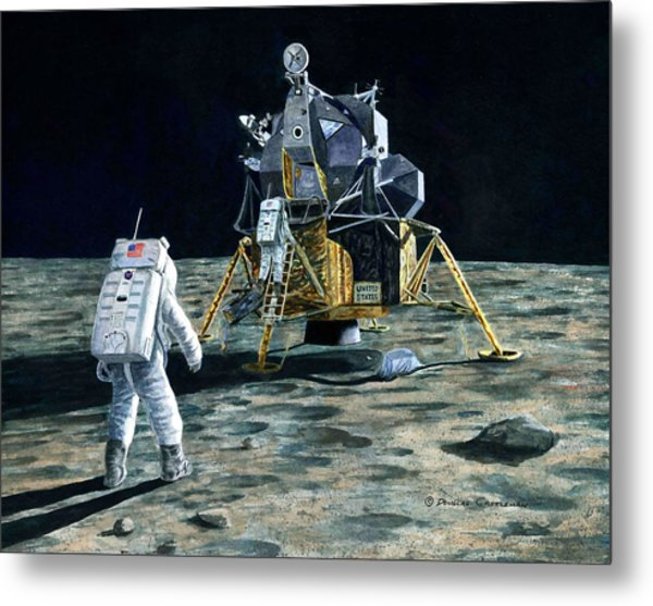Aldrin Joins Armstrong Metal Print