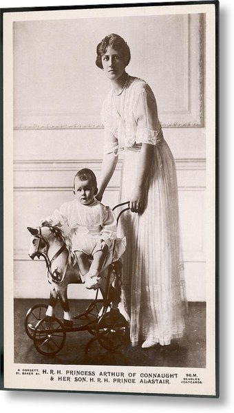 Alexandra Duchess Of Connaught Wife Metal Print by Mary Evans Picture Library