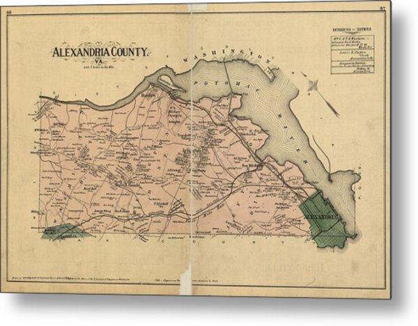 Alexandria Virginia 1878 Metal Print