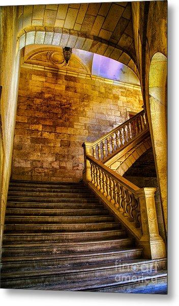 Alhambra Stairway Metal Print