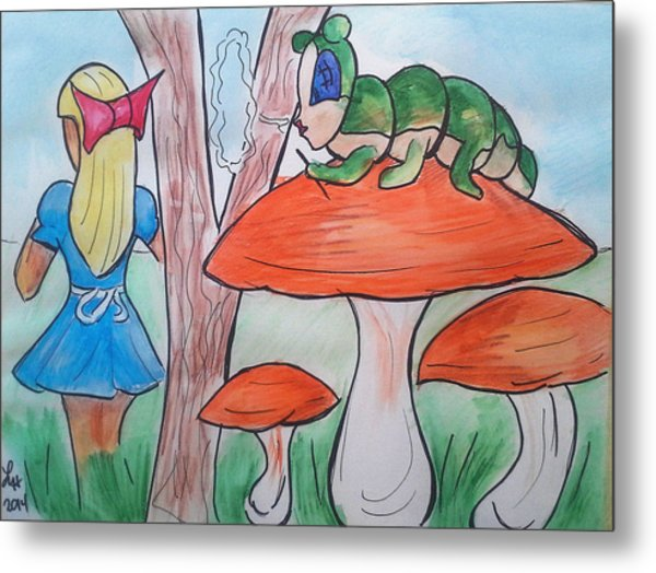 Alice Asking For Directions Metal Print