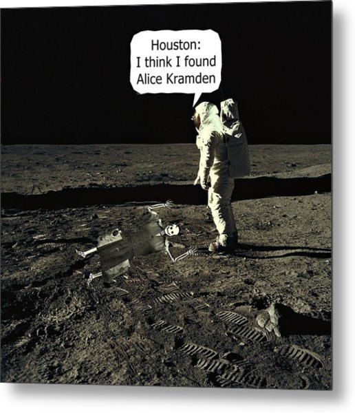 Alice Kramden On The Moon Metal Print