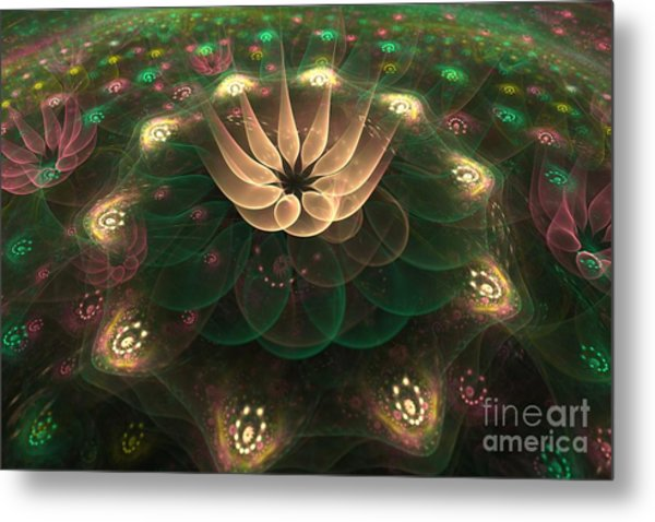 Alien Flower Metal Print