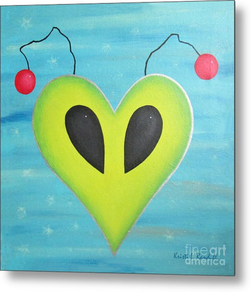 Alien Love Metal Print by Kristi L Randall